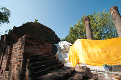 Sleeping Buddha. Statue in Ayutthaya Thiland Royalty Free Stock Images