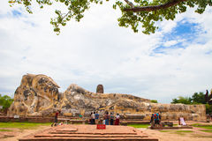 Sleeping Buddha in Ayutthaya, Thailand Royalty Free Stock Photos