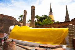 Sleeping Buddha in Ayutthaya, Thailand Stock Photo