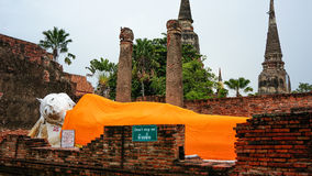 The Sleeping Buddha at Ayutthaya Thailand Royalty Free Stock Photo
