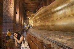 Sleeping Buddha in Bangkok Royalty Free Stock Image