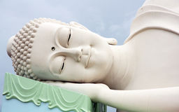 Sleeping Buddha. The face of Sleeping Buddha in Vietnam Stock Photography