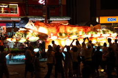 Sleeping buddha floats at Wesak Day Procession Stock Photos