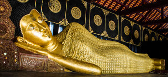Sleeping buddha image Stock Photos