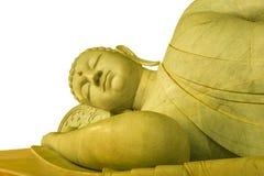 The sleeping Buddha isolated Stock Photos