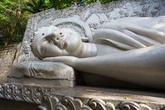 Sleeping Buddha at the Long Son Pagoda in Nha Trang. Vietnam royalty free stock images