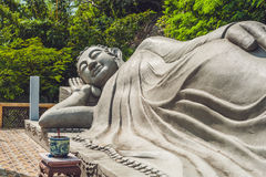 Sleeping Buddha at the Long Son Pagoda in Nha Trang. Vietnam royalty free stock photos