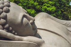 Sleeping Buddha at the Long Son Pagoda in Nha Trang royalty free stock photo