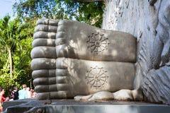 Sleeping Buddha at the Long Son Pagoda in Nha Trang royalty free stock photography