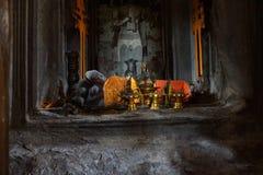 Sleeping Buddha in main gopura tower Royalty Free Stock Photos