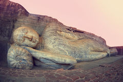 Sleeping buddha. Polonnaruwa, Sri-Lanka Royalty Free Stock Image