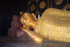 Sleeping Buddha. Sculpture in one of the temples of Chiang Mai Royalty Free Stock Image
