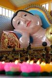 Sleeping Buddha Statue. At Wat Chaiya Mangkalaram Temple Penang royalty free stock photography
