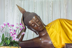 Sleeping Buddha Statue. Is in a temple in Thailand Stock Photography