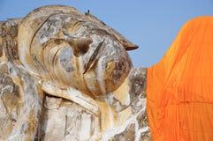 The Sleeping Buddha statue in Ayutthaya Thailand Royalty Free Stock Image