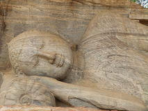Sleeping Buddha. Sri Lanka. Statue of Sleeping Buddha in Polonnaruwa - Sri Lanka Stock Image