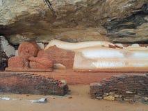 Sleeping buddha statue. A sleeping buddha statue in Sri Lanka Royalty Free Stock Photo