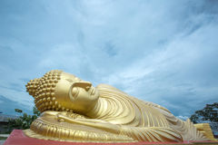 Sleeping Buddha Statue. In Thailand Royalty Free Stock Photography