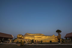 Sleeping Buddha Statue in Thailand. This is a Sleeping Buddha in Songkhla , The southern part of Thailand Royalty Free Stock Photography