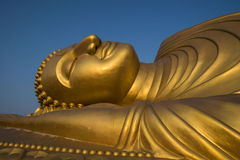 Sleeping Buddha Statue in Thailand. This is a Sleeping Buddha in Songkhla , The southern part of Thailand Royalty Free Stock Photos