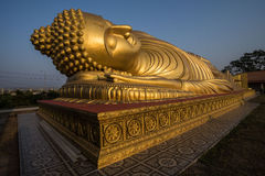 Sleeping Buddha Statue in Thailand. This is a Sleeping Buddha in Songkhla , The southern part of Thailand Stock Photos