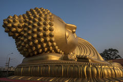 Sleeping Buddha Statue in Thailand. This is a Sleeping Buddha in Songkhla , The southern part of Thailand Royalty Free Stock Photo