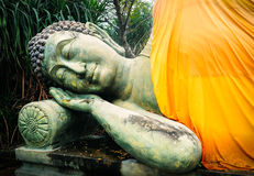 Sleeping Buddha. Temple of Buddha in Buriram. Royalty Free Stock Images