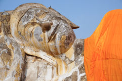 The Sleeping Buddha in Thailand Royalty Free Stock Images