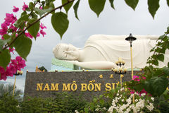 Sleeping Buddha in Vietnam Royalty Free Stock Photography