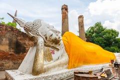 Sleeping Buddha at Wat Yai Chai Mongkol, Ayutthaya Province Royalty Free Stock Image