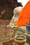 Sleeping Buddha in Wat Yai Chaimongkhon Stock Photos