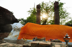Sleeping Buddha in Wat Yai Chaimongkhon Stock Images