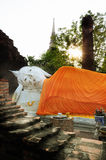Sleeping Buddha in Wat Yai Chaimongkhon Stock Photography
