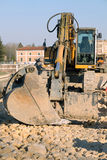 Sleeping bulldozer Royalty Free Stock Photography