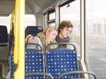 Sleeping on the bus Royalty Free Stock Photo