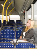 Sleeping on the bus Stock Image