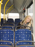 Sleeping on the bus Royalty Free Stock Photo