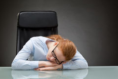 Sleeping Business Employee Royalty Free Stock Image