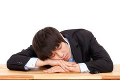 Sleeping business man Royalty Free Stock Images