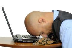 Sleeping businessman Royalty Free Stock Photography