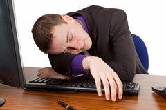 Sleeping businessman Stock Image