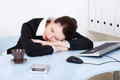 Sleeping businesswoman. Royalty Free Stock Photo