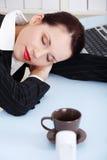 Sleeping businesswoman. Stock Photo