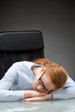 Sleeping Businesswoman Royalty Free Stock Images