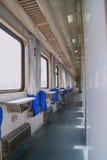 Sleeping car of the passenger train. Passenger train interior of ordinary sleeping car , China Royalty Free Stock Photo