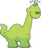 Sleeping Cartoon Apatosaurus Royalty Free Stock Image