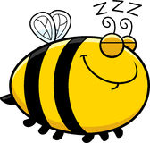 Sleeping Cartoon Bee Royalty Free Stock Photography