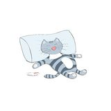 Sleeping cartoon cat Royalty Free Stock Photos