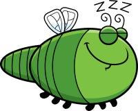 Sleeping Cartoon Dragonfly Royalty Free Stock Images