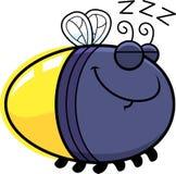 Sleeping Cartoon Firefly. A cartoon illustration of a firefly sleeping Stock Image